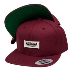 """Above"" Snapback Cap – burgundy"