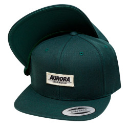 """Above"" Snapback Cap – dark green"