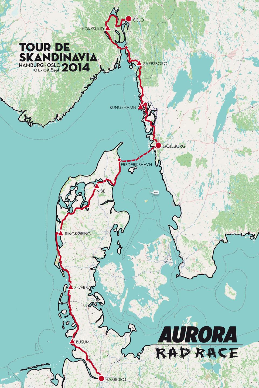 Tour de Skandinavia - Route
