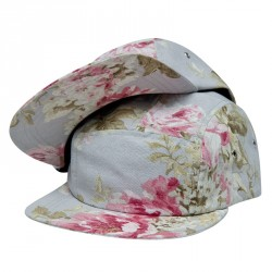 """The Floral"" 5 Panel Cap – grey"