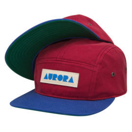 AURORA 5 Panel Cap - bordeaux