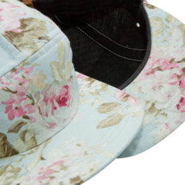 "AURORA ""The Floral"" 5 Panel Cap - blue"