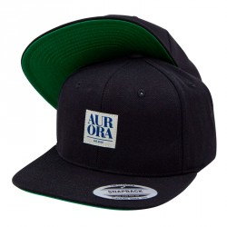 Serif Snapback Cap &#8211; Black