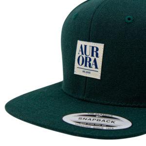 AURORA Serif Snapback Cap - darkgreen