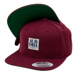 Serif Snapback Cap &#8211; Bordeaux