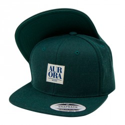 Serif Snapback Cap &#8211; Dark green