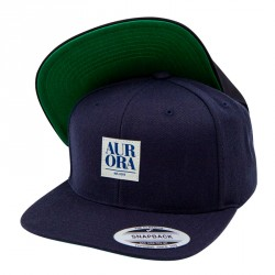 Serif Snapback Cap &#8211; Navy