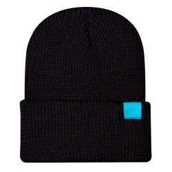 Watch Cap &#8211; black/cyan