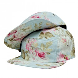 """The Floral"" 5 Panel Cap – blue"