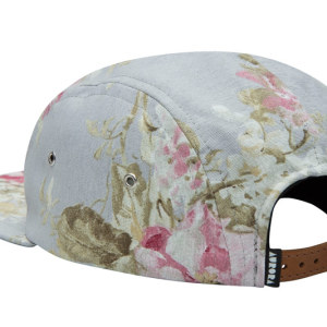 "AURORA ""The Floral"" 5 Panel Cap - grey"