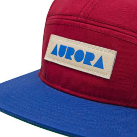 AURORA 5 Panel Cap - bordeaux