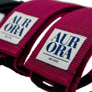 AURORA Velcro Straps Serif - bordeaux